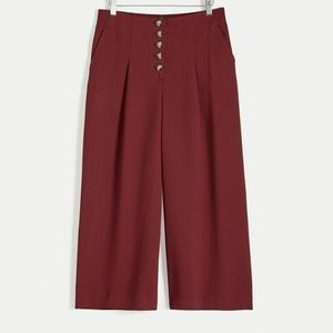 Reitmans | Wide Cropped Pants with Button Fly